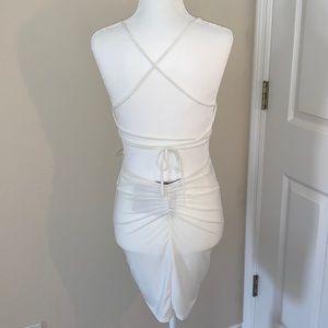 NWT NAKED WARDROBE WHITE MINI DRESS